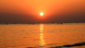 Amazing sunset over tropical beach stock video footage
