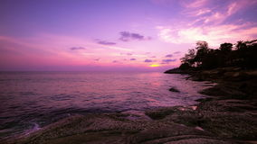 Amazing sunset over the tropical sea. Time lapse. Phuket island, Thailand travel stock footage