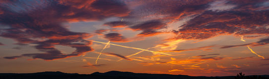 Amazing sunset panorama Stock Image