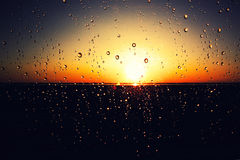 Amazing sunset after rain Royalty Free Stock Photos