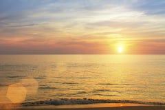 Amazing sunset on the sea in the subtropics. Nature. Stock Photos