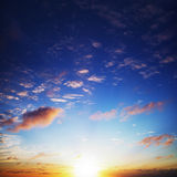 Amazing sunset sky Royalty Free Stock Photo