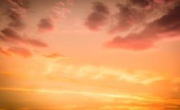 Amazing sunset sky Royalty Free Stock Photo