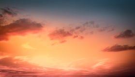 Amazing sunset sky Royalty Free Stock Image
