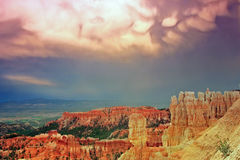 Amazing sunset sky in Bryce Canyon Royalty Free Stock Photography