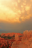Amazing sunset sky in Bryce Canyon Stock Photography
