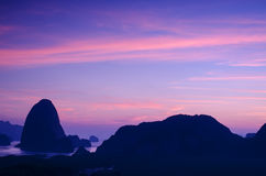 Amazing sunset in Thailand Royalty Free Stock Photography