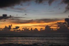 Amazing sunset at Uluwatu beach in Bali. Indonesia Royalty Free Stock Image