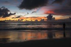 Amazing sunset at Uluwatu beach in Bali. Indonesia Royalty Free Stock Images