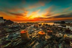 Amazing sunset view royalty free stock photo