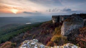 Magic autumn sunset stock footage