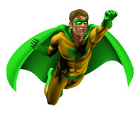 Amazing Superhero Illustration Royalty Free Stock Images