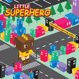 Amazing superhero isometric world theme Royalty Free Stock Photography