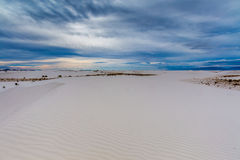 The Amazing Surreal Rippled White Sands of New Mexico Royalty Free Stock Photos