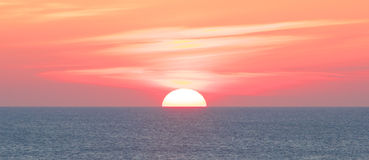 Amazing Sylt Sunset. Amazing sunset over the German North Sea, shot from the shores of Sylt island stock images