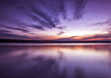 Amazing symmetry sunset Royalty Free Stock Photos