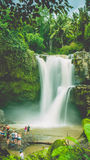 Amazing Tegenungan Waterfall near Ubud in Bali, Indonesia Royalty Free Stock Images