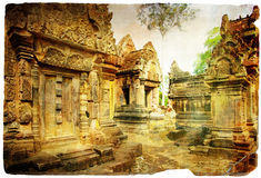 Amazing temples of khmer civilization Stock Image
