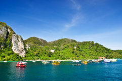 Amazing Thailand. Beautiful landscape in phi phi island , Phuket, Thailand Royalty Free Stock Image