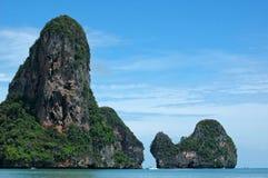 Amazing Thailand! Krabi province. Rocks by the sea Royalty Free Stock Photo