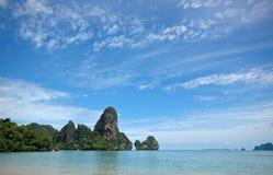 Amazing Thailand! Krabi province. Rocks by the sea Royalty Free Stock Photos