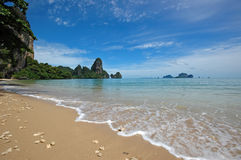 Amazing Thailand! Krabi province. Rocks by the sea Stock Photos
