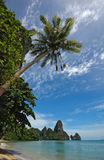 Amazing Thailand! Krabi province. Rocks by the sea Royalty Free Stock Image