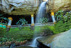Amazing  Thailand the temple under waterfall Wat Tham Heo Sin Ch Royalty Free Stock Image