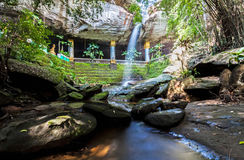 Amazing Thailand the temple under waterfall Wat Tham Heo Sin Chai Royalty Free Stock Photos