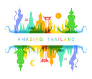 Amazing Thailand. Vector and Illustration Royalty Free Stock Photo