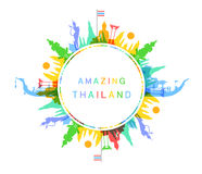 Amazing Thailand. Vector and Illustration Royalty Free Stock Photography