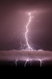 Amazing thunder lightnings Stock Photography