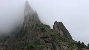 Amazing time-lapse scene of Mist moving in the most famous mountain in China. Mount Huangshan stock video