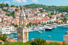 Amazing town of Hvar harbor Stock Photos