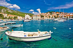 Amazing town of Hvar waterfront Stock Image