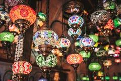Amazing traditional handmade turkish lamps in Local souvenir shop ,Goreme. Cappadocia Turkey