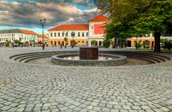 Wonderful street view in Sfantu Gheorghe city center, Transylvania, Romania Royalty Free Stock Photography
