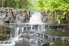 Amazing Treppoja stepped cascade waterfall Stock Photos
