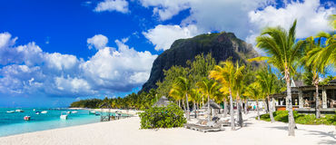 Amazing tropical holidays - luxury beaches of Mauritius island Stock Image
