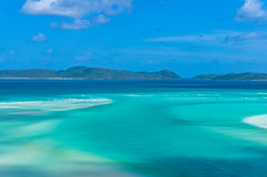 Amazing tropical seascape of turquoise blue water and coral reef Royalty Free Stock Photography