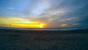Amazing tropical sunset. Indonesia summer beach sunset . Bali stock video footage
