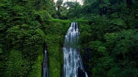 Amazing Tropical Waterfall in Green Rainforest.