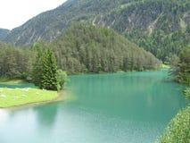 Amazing Turquoise Alpine Lake Royalty Free Stock Photo