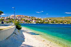 Amazing turquoise beach of Rogoznica town Stock Photo