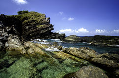 Amazing unique rock formation at Kapas island located in  Terengganu Malaysia Stock Photography