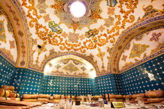 Amazing vaults of the old fashioned restaurant in traditional persian style Royalty Free Stock Photography