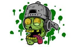 Zombie Cap On Music vector illustration