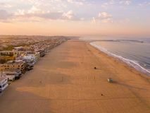 Amazing Venice beach during morning. Sunrise lights in Los Angeles Royalty Free Stock Image