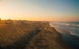 Amazing Venice beach during morning sunrise. Lights in Los Angeles Royalty Free Stock Photos