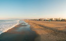 Amazing Venice beach during morning sunrise. Lights in Los Angeles Stock Photography